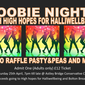 Boobie nights with High hopes for Halliwellbeing