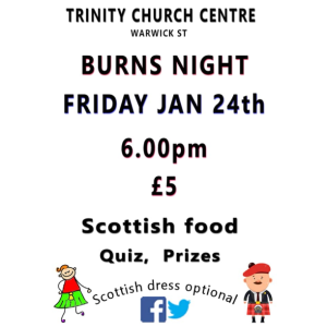 Burns Night at Trinity Church Centre