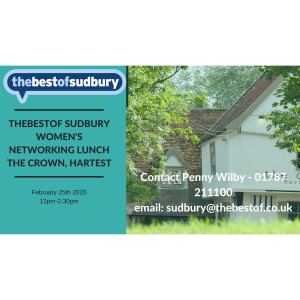thebestof Sudbury Women's Networking Lunch - £26 (to be invoiced separately)