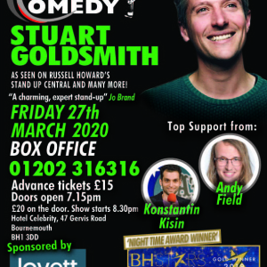 The Coastal Comedy Show with TV Headliner Stuart Goldsmith.