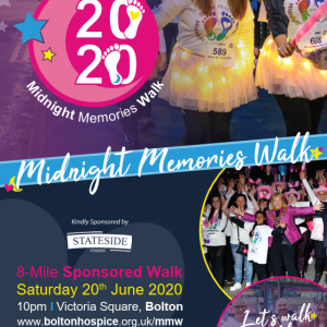 Midnight Memories Walk 2020 Bolton Hospice