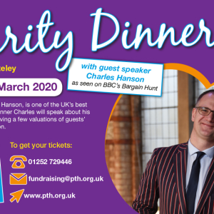 Charity dinner with speaker Charles Hanson
