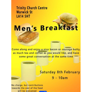 Men's Breakfast at Trinity Church Centre