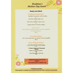 Celebrate Mother's Day with Bradshaw's Farm Shop & Cafe