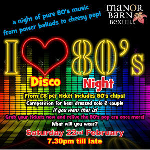 I love 80's Disco Night