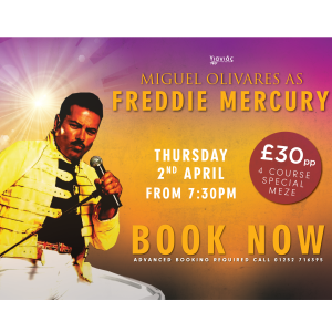 Freddie Mercury Tribute Night at Yiayias at The Fox