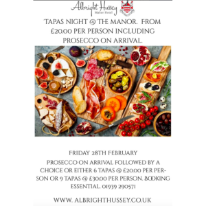 Tapas night in Shrewsbury