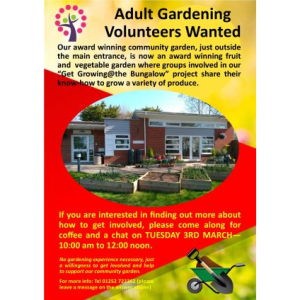 Adult Garden Volunteers Coffee Morning