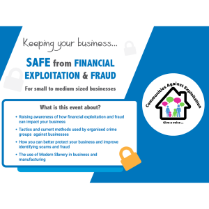 Keeping your business safe from Financial Exploitation  *FREE EVENT*