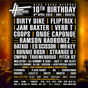 High Focus 10th Birthday - Bristol