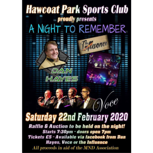 A Night to Remember in aid of the MND Association
