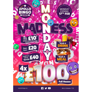 Monday Madness at Apollo Bingo