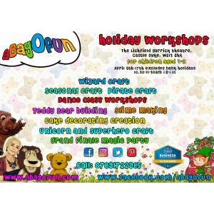 Online Easter Holiday Workshops - aBagOfun