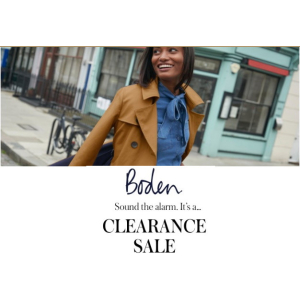 BODEN Clothing Clearance Sale at #Epsom Downs Racecourse
