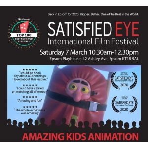 AMAZING KIDS ANIMATION with @Satisfied_Eye at #Epsom Playhouse @EpsomPlayhouse #SEIFF
