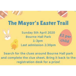 CANCELLED Easter Trail at @BourneHallEwell with #Epsom Mayor @EEMayorsCharity @EpsomPhab