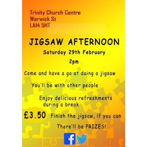Jigsaw Afternoon at Trinity Church Centre