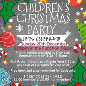 Children's Christmas Party at Bridgtown Social Club