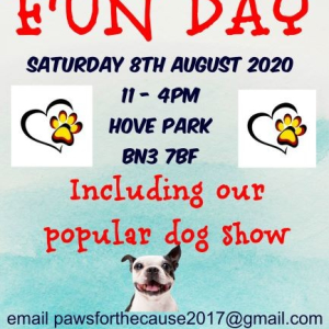 PAWS FOR THE CAUSE RESCUE FUN DAY AND DOG SHOW