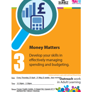Money Matters FREE 5 week course with @EpsomLC