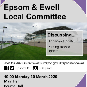CANCELLED Surrey County Council Epsom & Ewell Local Committee  @EpsomLC