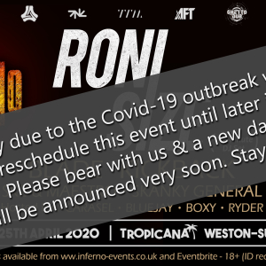 Inferno DnB presents RONI SIZE - Postponed!