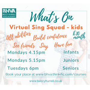 If you'd like something for your kids to do, then check out Virtual Sing Squad.