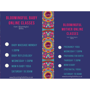 Online classes for pregnancy, mums' and babies with Bloomingful Births