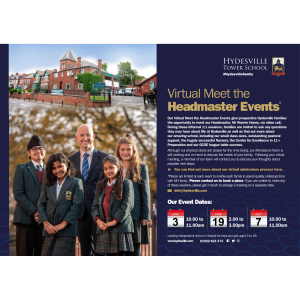 Virtual Meet the Headmaster Events at Hydesville Tower School