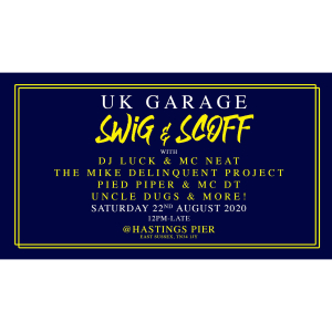 UK Garage Swig & Scoff - 100 Tables ONLY!
