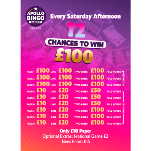12 Chances to win £100