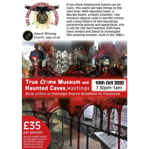 EAPI Paranormal Ghost Hunt - True Crime Museum and Haunted Caves