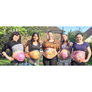Maternity Bump Painting Photoshoot