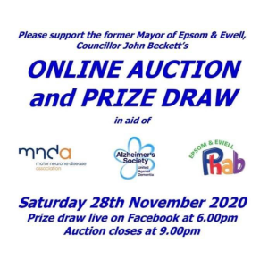 Online LIVE Auction And Prize Draw for #Epsom Mayors Charity @EEMayorsCharity – you can bid for a personal training session with Joe Wicks @TheBodyCoach