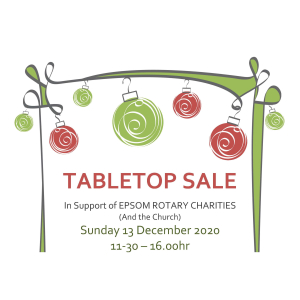 Table Top SALE in Epsom with Epsom Rotary Club