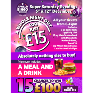 Super Saturday Evenings at Apollo Bingo