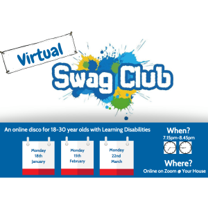 SWAG CLUB VIRTUAL DISCO for the #learningdisbaled with the Sunnybank Trust #Epsom