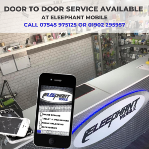 Door to Door Phone Repairs and Services available at Eleephant Mobile