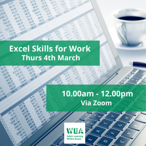 EXCEL Skills For Work FREE Course with @WEAEastSurrey - #Epsom & #Ewell Employment Skills Initiative