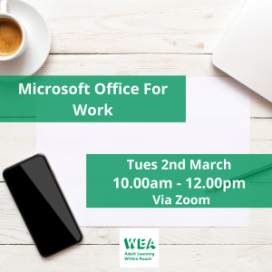 Microsoft Office For Work FREE Course with @WEAEastSurrey - #Epsom & #Ewell Employment Skills Initiative