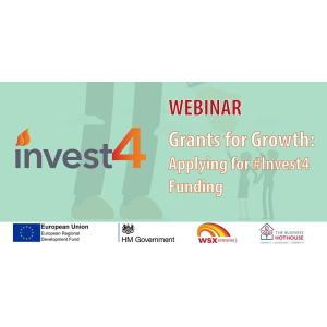 WEBINAR - #GrantsForGrowth How to apply for #Invest4Fundingwith @ WSXEnterprise  @EpsomEwellBC