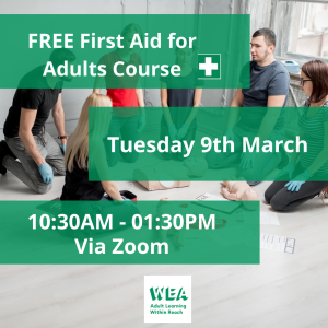 Free First Aid for Adults Course with @WEAEastSurrey - #Epsom & #Ewell Employment Skills Initiative