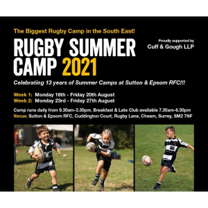 A Rugby Summer Camp  like no other at @suttonEpsomRFC @CuffandGoughLLP #BringTheRoar