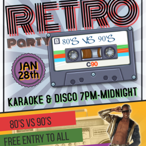 80s VS 90s Karaoke & Disco Party at the Bridgtown Social Club