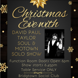 Christmas Eve Motown and Soul with David Paul Taylor