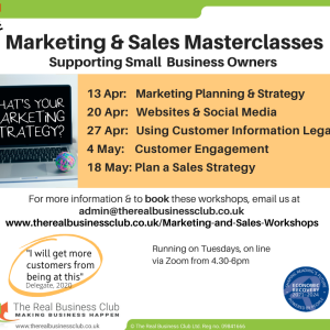 FREE & Online: Marketing & sales masterclasses: Plan a Sales Strategy