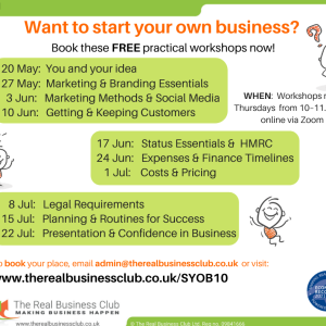 FREE & Online: Start Your Own Business Workshops: You & Your Idea
