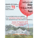 "Singletons  ""Red Balloon Ball "" 16th September 2017"