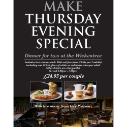 Thursday Evening Special - The Wickentree Restaurant at Housing Units