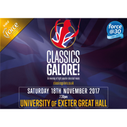 Classics Galore! 2017 Concert, in aid of Exeter Cancer Charity FORCE